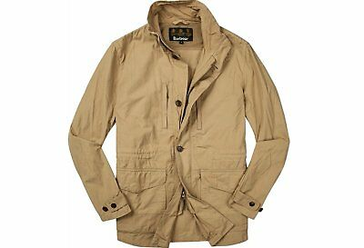 Barbour Men's Cumbrae Casual Cotton Jacket Stone NWT MSRP $379