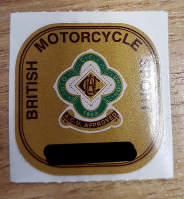 lGenuine ACU Gold Sticker Auto Cycle Union Motorcycle Helmet Track Race Approval
