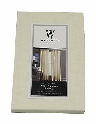Wamsutta Cotton Sheer 1-Rod Pocket (60in x 84in) Panel, Yellow