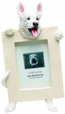 German Shepherd White Dog Picture Photo Frame