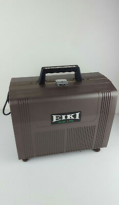 Vintage Eiki Slim Line 16mm Film Movie Sound Projector SNT-0 W/ Slip Cover