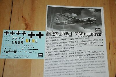 Decals - Hasegawa - Junkers Ju88G-1 Night Fighter - 1:72 - 00830