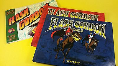 Flash Gordon Lot of 3-reprints from the  30s & 40s-Alex Raymond & Austin Briggs