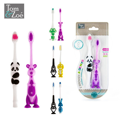Lot de 2 brosses à dents 3-6 ans