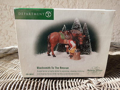 Department 56 Dickens Village Blacksmith To The Rescue