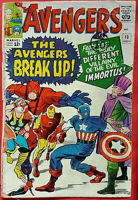 AVENGERS 10 Marvel Silver Age 1964 1st Appearance Of Immortus