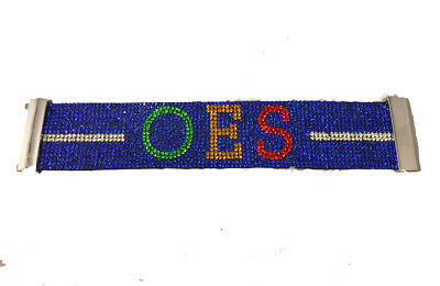 Order of the Eastern Star OES Bling Bracelet- Blue-New!