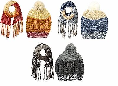 RAMPAGE Women's Multi-colored Marled Scarf and Hat Set - Assorted Colors