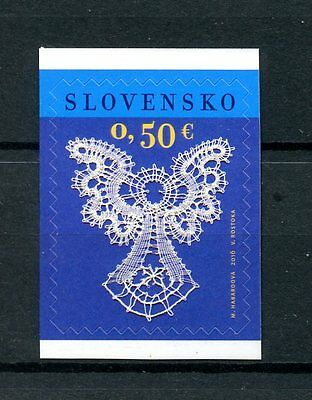 Slovakia 2016 MNH Christmas Bobbin Lace Angels 1v S/A ex-Booklet Stamps