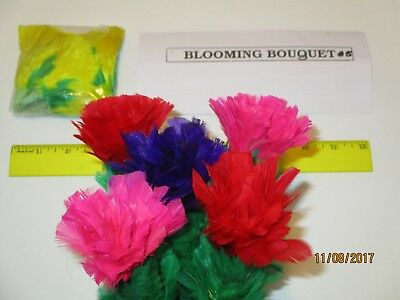SLEEVE CLOTH FEATHER FLOWER BOUQUET Stage Magic Trick 10 Bud Production Magician