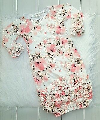 baby girl night gown, baby girl sleep gown, toddler girl night gown, floral gown