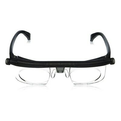 Adjustable Strength Lens Reading Glasses Eyewear Variable Focus Dial Vision