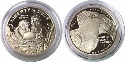 2008 50C Bald Eagle Commemorative Half Dollar Proof Mint Capsule Only