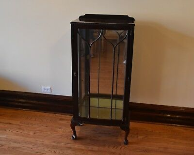 Antique Mahogony Chippendale Style Display Cabinet