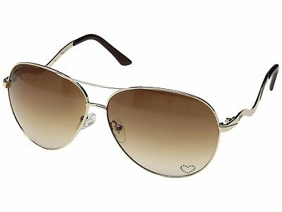 NEW Guess GU 7021 GLD-34 Gold / Brown Gradient Sunglasses Authentic Heart
