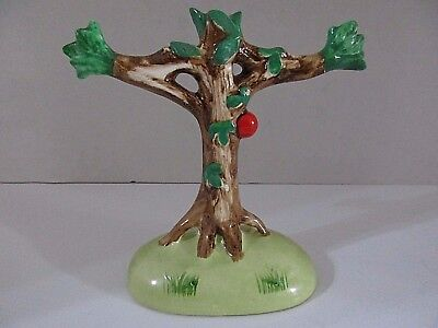Vintage Tree Trunk Stump Spooky Porcelain / Ceramic Figurine VERY RARE NAPCO ?
