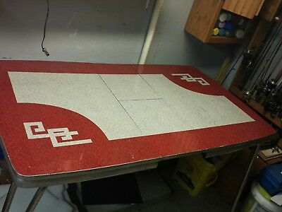 RARE PATTERN Vintage Retro 1950's RED FORMICA KITCHEN TABLE GREAT DESIGN ATOMIC