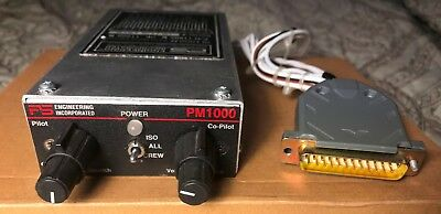 PS Engineering PM1000 II (11905) with crew panel mount intercom with connector