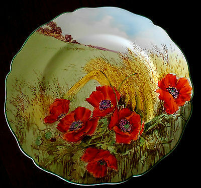"""STUNNING! Royal Doulton """"Poppies in Cornfield"""" Series Ware Plate.*EXC. COND.*"""