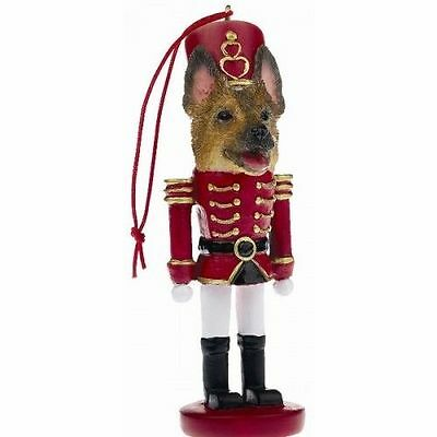 German Shepherd Dog Toy Soldier Nutcracker Christmas Ornament