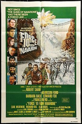 One Sheet Movie Poster 1978 FORCE 10 FROM NAVARONE HARRISON FORD