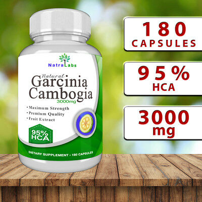 Garcinia Cambogia - 180 Capsules - 3000mg - 95% HCA - weight loss support