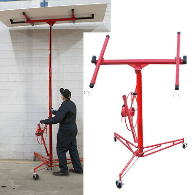 11FT Lift/Lifter Tool Drywall Panel Hoist Caster Plaster Board Sheet Lockable UK
