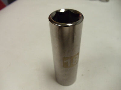 """Craftsman 3/8"""" Drive Laser Etched Deep Sockets, Metric & STD 6 Point Made in USA"""