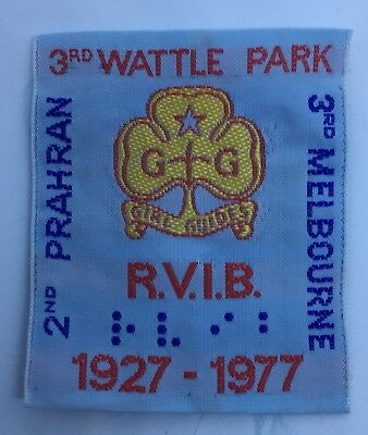 Girl Guides Patch 3rd WATTLE PARK RVIB 1927-1977