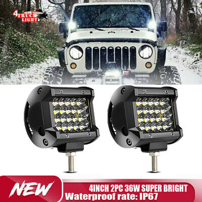 2Pcs 4inch 18w LED Work Light Bar Spotlight For 1994 Honda FourTrax 300 ATV UTE