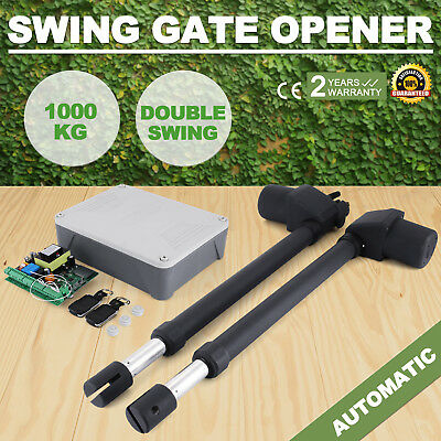 Dual Swing Gate Opener 1000KG Scalable Controller Double Actuator Automatic