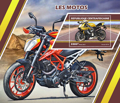 Central African Rep 2017 MNH Motorcycles Yamaha KTM Duke 1v S/S Motos Stamps