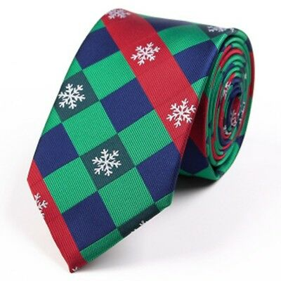 Fashion Men's Christmas Tie Classic Wedding Party Necktie Xmas Festival Gifts