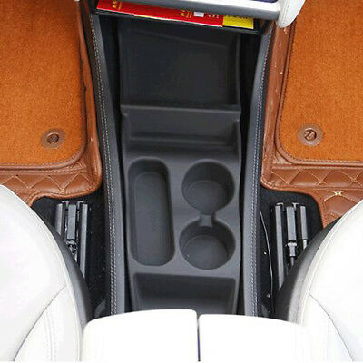Silicone Cup Holder Storage Box Console Container Box  For Tesla Model S 2012-17
