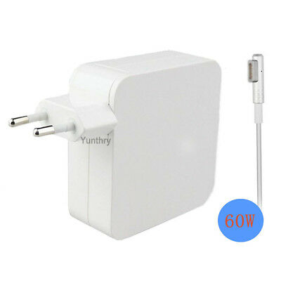 60W MagSafe 1 L-tip US/EU AC Power Adapter Charger for Apple Macbook Air Pro 13""