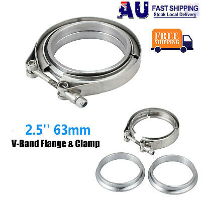 3.0'' Inch V-Band Flange & Clamp Kit For Turbo Exhaust Downpipes Mild Steel