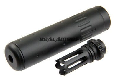 CYMA AAC Type Full Metal SCAR QD Airsoft Barrel Extender With Flash Hider Set