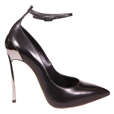 "Casadei: Decollete': ""blade"" Pelle Nero 120Mm"