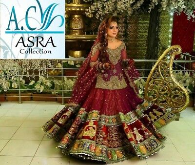 Pakistani Kashee's Bridal2018 Latest Embroidery Collection Shalwar Kameez Suit