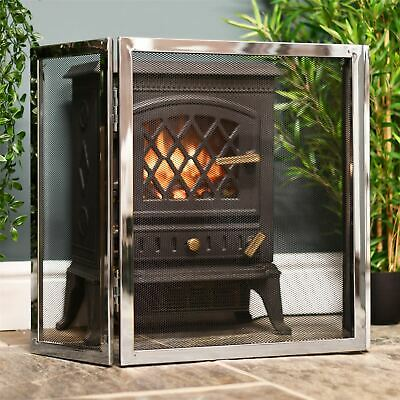 """""""Strandly Grange"""" Polished Steel and Iron Fire Guard"""