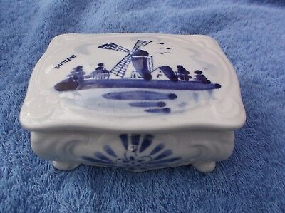 Collectable Delft Blue Trinket Box
