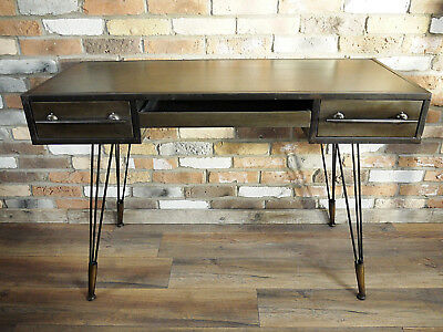 Industrial Vintage Sideboard Office Desk Console Hall Table Chest Of 3 Drawers A