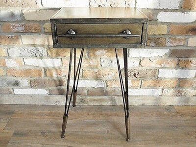 Industrial Vintage Bedside Cabinet Cupboard Chest Of Drawers Storage Unit Table