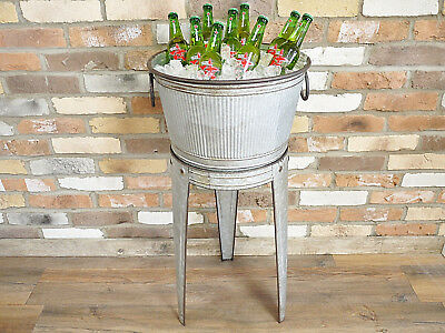 Vintage Antique Drinks Wine Beer Champagne Bottle Holder Cooler Ice Bucket Stand
