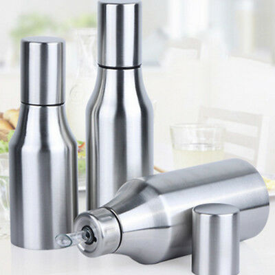 Kitchen Stainless Steel Oil Vinegar Dispenser Bottle Leak-proof 0.5/0.75/1L AU