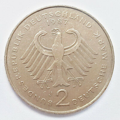 2 Deutsche Mark 1987 J