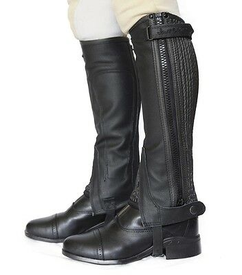 Just Chaps Classic Leather Half Chaps Adults