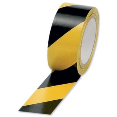 """1 roll x 50mm 2"""" Black and Yellow Self Adhesive Hazard Warning Safety Tape 33m"""