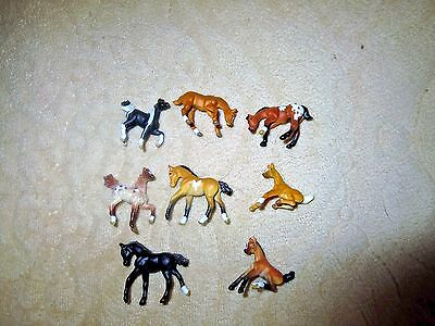 Lot of 8 Small Breyer Model Horse Toys  Miniatures