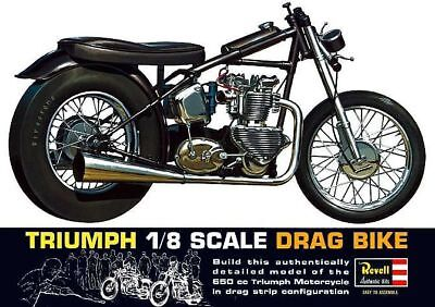 Revell Triumph Drag Bike Motorcycle Sticker or Magnet